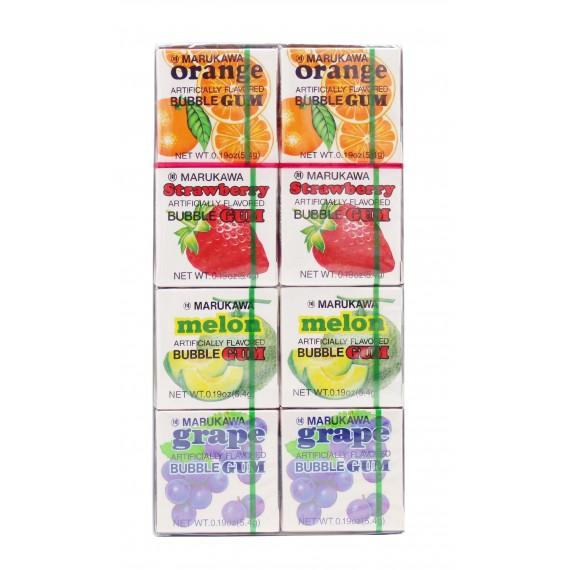 Chewing gum saveurs variées 8 packs MARUKAWA 800g