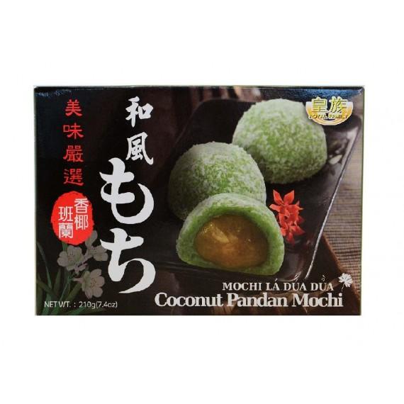Mochi Gâteau mou au pandan et à la Noix de coco ROYAL FAMILY 210g - mon panier d'asie
