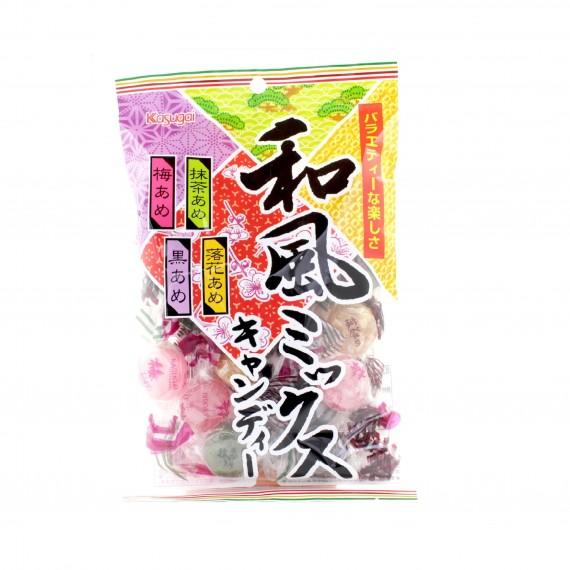 Bonbons durs aux 4 parfums KASUGAI 150g - mon panier d'asie