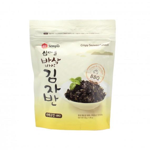 Snack croustillant feuille d'algue séchée Saveur BBQ 50g - mon panier d'asie