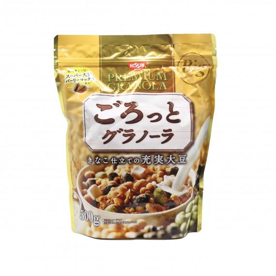 Céréales soja mix NISSIN 500g - mon panier d'asie