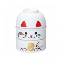 Boîte à bento motif chat blanc 440ml