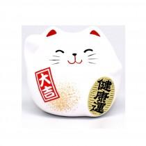 Porte-bonheur Chat blanc