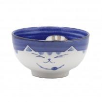 bol chat japonais bleu profond