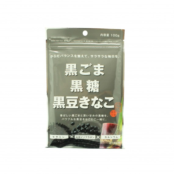 Poudre de soja au sésame noir et sucre roux KINAKO 100g