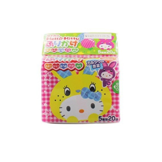 Furikaké 5 variétés de condiments pour riz Hello Kitty TANAKA - mon panier d'asie