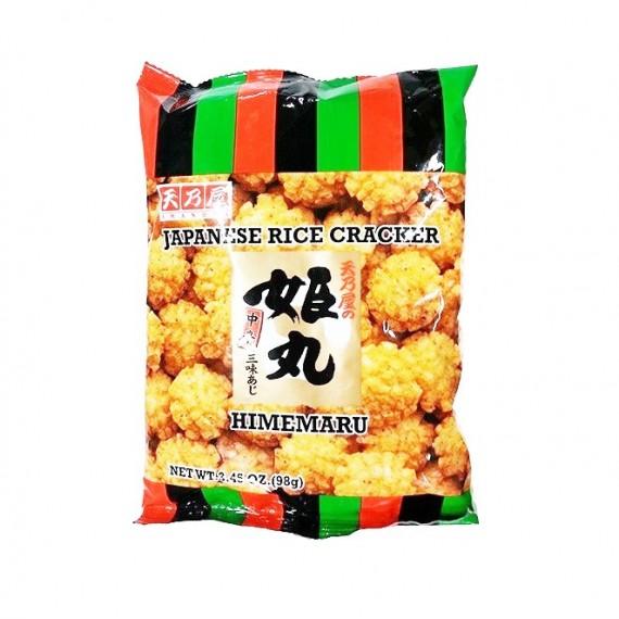 Crackers au riz HIMEMARU 98g - mon panier d'asie