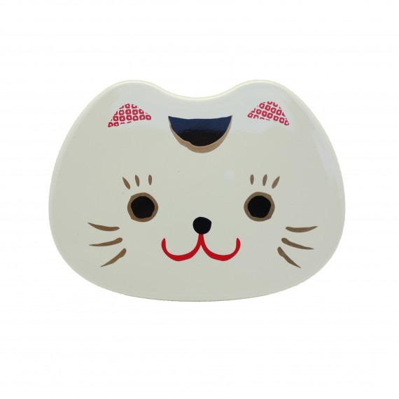 Boîte à bento Visage Chat Blanc 500ml - mon panier d'asie