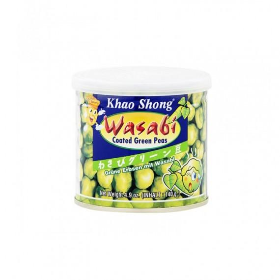 Petits pois au wasabi KHAO SHONG 140g - mon panier d'asie