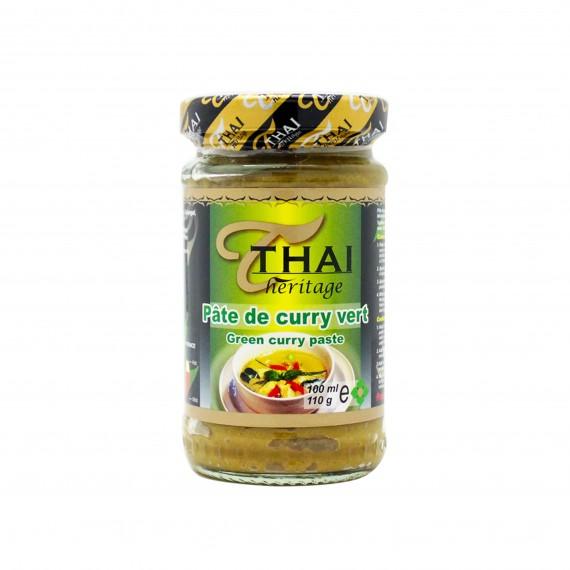 Pâte de curry vert THAI HERITAGE 110g - mon panier d'asie
