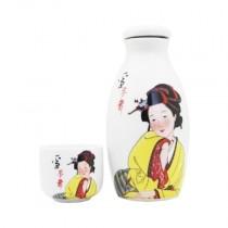 Umeshu en bouteille céramique + verre 10,2% 180 ml - mon panier d'asie