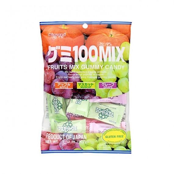 Bonbons mous 3 Fruits KASUGAI 102g - mon panier d'asie