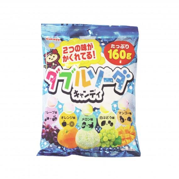 Bonbons aux fruits et soda KABAYA 155g - mon panier d'asie