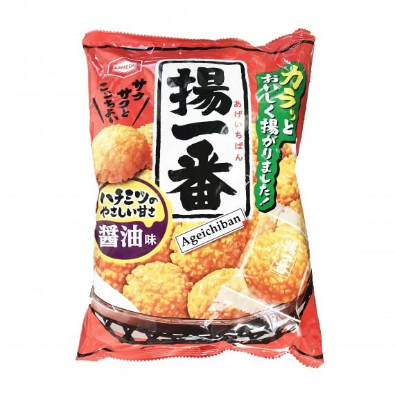 Aperitif au riz ageichiban KAMEDA 155g - mon panier d'asie