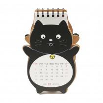 Mini Calendrier 2018 Chat noir dessiné