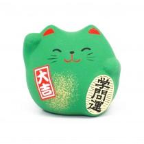 Porte-bonheur Chat vert