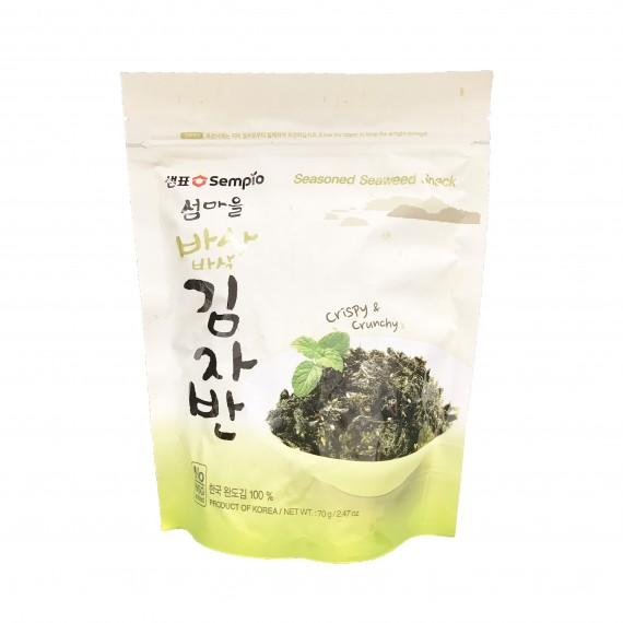 Snack croustillant feuille d'algue séchée Nature 70g - mon panier d'asie
