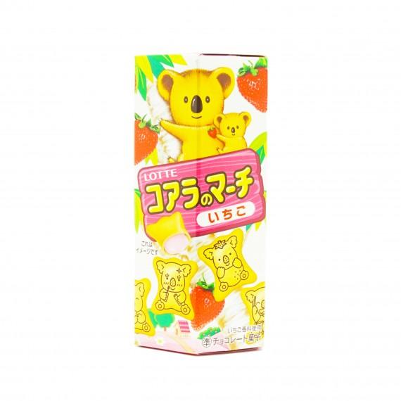 Koala No March Biscuits fraise LOTTE 48g - mon panier d'asie