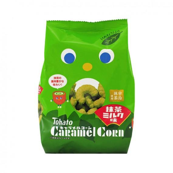Caramel corn Snack matcha & Lait TOHATO 70g - mon panier d'asie