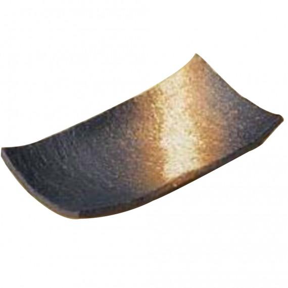 Assiette rectangle marron-or 19,7x10,4x3,5cm
