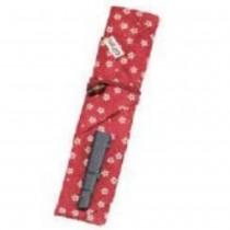 Capuchon pour baguettes & tissu rouge 21*3,4cm