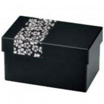 Bento noir motif sakura blanc
