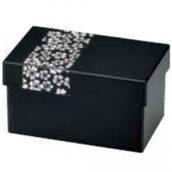 Bento noir motif sakura blanc 330ml+350ml