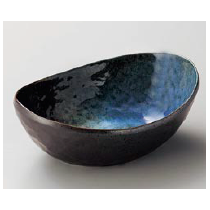 bol ovale noir-bleu 19,2x13,8x7cm