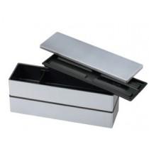 bento 2 etage couleur unie gris clair 220x65x96 (420ml+420ml)