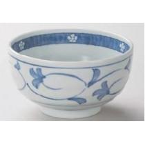 Bol motif herbe bleu16x8,5cm