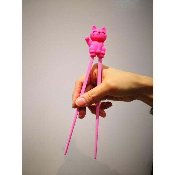 baguette pour débutants chat porte-bonheur rose