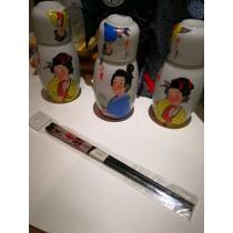 baguettes motif femme japonaise
