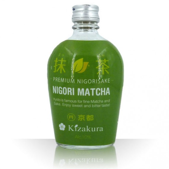 saké junmai nigori matcha kizakura 10% 300ml