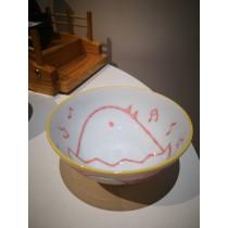 bol à riz motif poussin rose