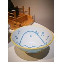 Bol à riz motif poussin bleu
