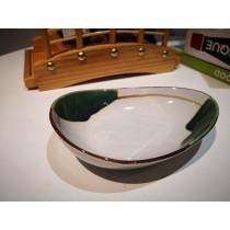 bol oval blanc-vert15.4*11.34*4cm
