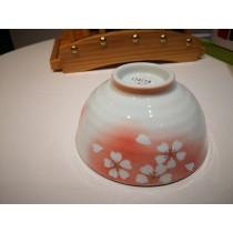 bol en porcelaine motif fleur