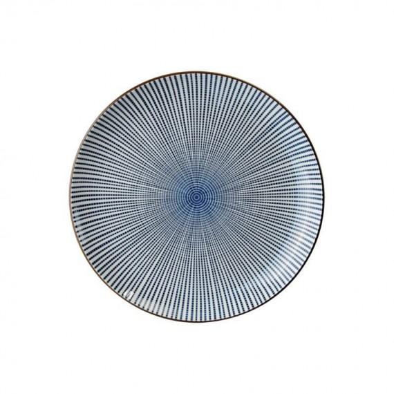 Tokyo Design Studio Sendan Tokusa Blue Assiette Ø 25 cm - mon panier d'asie