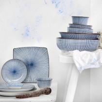 Tokyo Design Studio Sendan Tokusa Blue Assiette Rectangulaire 23 x 11 cm