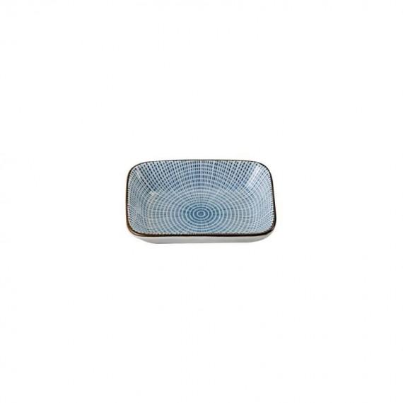 Tokyo Design Studio Sendan Tokusa Blue Coupelle Rectangulaire 17.5x11.6 cm - mon panier d'asie
