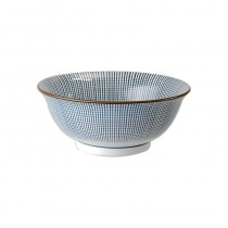 Tokyo Design Studio Sendan Tokusa Blue Bol 21x8.5cm