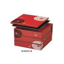 Bento boîte 3 niv rouge 3,9L