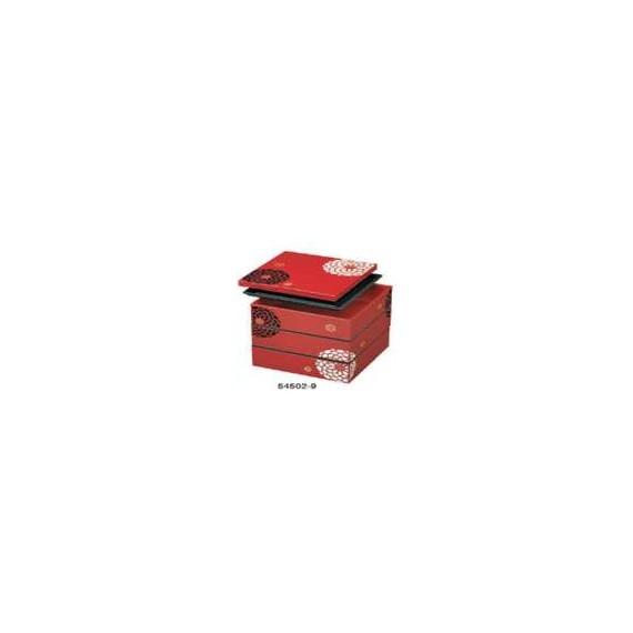 Bento boîte 3 niv rouge 3,9L - mon panier d'asie