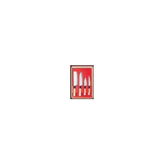 couteau OHZAWA SR1001 4PCS SET (NAKIRI, SANTOKU, SMALL DEBA & PETTY) - mon panier d'asie