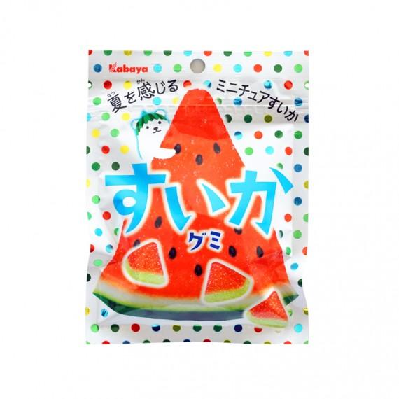 Bonbons Mous Suika Pastèque KABAYA 50g - mon panier d'asie