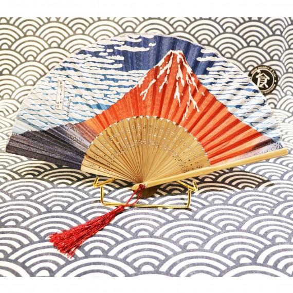 Eventail avec dessin Mont Fuji - mon panier d'asie
