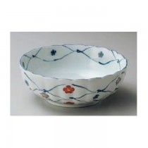 Bol blanc motif fleur 16,8x6,2cm