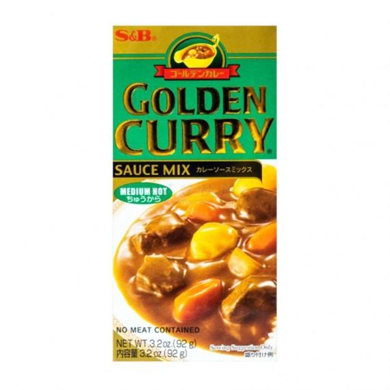 Curry japonais mi-fort en bloc S&B 100g - mon panier d'asie