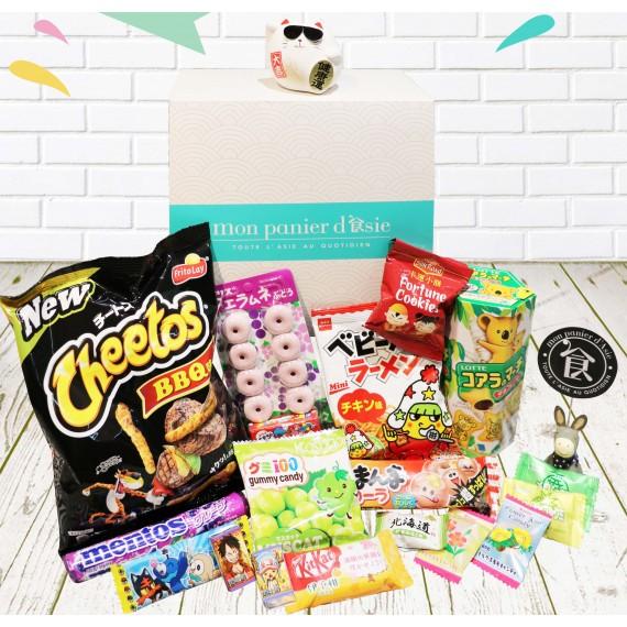 My Snack Box Découverte Numéro 3 (Avec Chat Porte-Bonheur) - mon panier d'asie