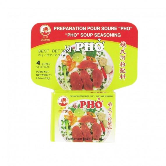 Préparation pour soupe PHO en cube 75g - mon panier d'asie